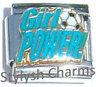 SOCCER BALL SPORTS GIRL POWER Enamel Italian Charm 9mm - 1 x SP030 Single Link
