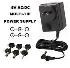 5 VOLT 3000 MA AC/DC POWER SUPPLY ADAPTER 5V 3 A/3A 240V AUS 1.4/9/2.1/5/MONO