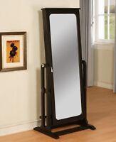 Powell Black Cheval Jewelry Armoire Storage Mirror Floor Furniture 502-551