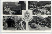 BAD BERTRICH a.d. Mosel 4-fach Mehrbild-AK mit Wappen alte Postkarte Ansichtsk.