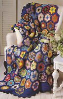 Crochet Pattern ~ PAPERWEIGHT GRANNY AFGHAN ~ Instructions