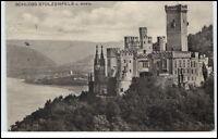 Schloß Stolzenfels am Rhein alte Ansichtskarte 1911 gelaufen Rheinblick