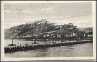 EHRENBREITSTEIN Coblenz Koblenz 1911 Schiff-Brücke Pontonbrücke Bedarfspost-AK