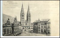 BREMEN 1905 Dom Rathaus Börse AK -> Königsberg gel.