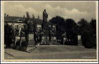 Worms Rheinland-Pfalz Ansichtskarte 1935 gelaufen Partie am Luther Denkmal