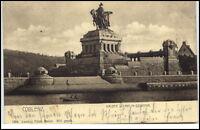 Koblenz Rheinland-Pfalz Postkarte 1904 gelaufen Partie am Kaiser Wilhelm Denkmal
