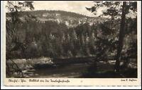 Oberhof  Thüringen alte AK 1938 gelaufen Ausblick von der Hambacher Straße