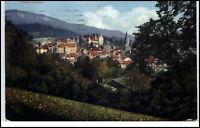 Baden-Baden alte Ansichtskarte 1916 gelaufen Fernansicht Teilansicht über Wiesen