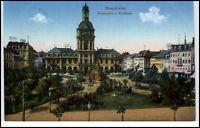 Mannheim alte Ansichtskarte 1916 gelaufen Partie am Paradeplatz und Kaufhaus