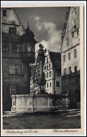 Rothenburg ob der Tauber Bayern Postkarte ~1920/30 Herterichbrunnen Apotheke