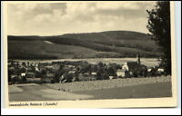 Neukirch Sachsen Lausitz DDR Postkarte 1955 Dorf Getreidefeld Kirche gelaufen