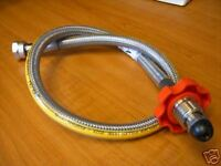 Stainless Steel Caravan Gas Pigtail Connector Pipe Propane High Pressure Hose