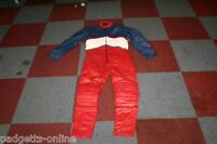 MW LEATHERS RED BLUE WHITE ONE PIECE LEATHER MOTORCYCLE SUIT SIZE UK 32