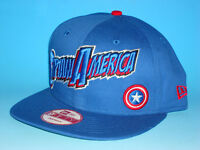 New Era Captain America 9Fifty Snapback Hat Marvel Comics Adjustable Avengers