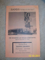 """Sands Hotel  """"A Place In The Sun"""" Information Pamphlet Las Vegas Nevada"""