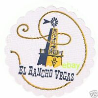 El Rancho Vegas White Drink Coaster 1950's Las Vegas