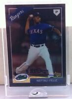 2009 ETOPPS NEFTALI FELIZ ROOKIE ON CARD AUTOGRAPH 99 AUTOS TEXAS RANGERS