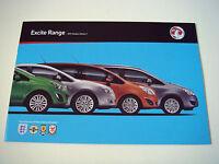 Vauxhall . Excite Range . 2011 Models  Edition 1 . Sales Brochure