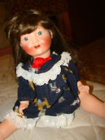 VINTAGE ANTIQUE 20 inch German Schoenau Hoffmeister Bisque/composition Body Doll