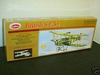 Guillows #202 British SE5-A laser cut Balsa wood Airplane model Kit New in box
