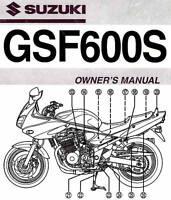 2002 SUZUKI GSF600S BANDIT 600 MOTORCYCLE OWNERS MANUAL -GSF  600 S--SUZUKI