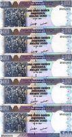 LOT, Burundi, 5 x 500 Francs, 2007, P-38 (38d), UNC