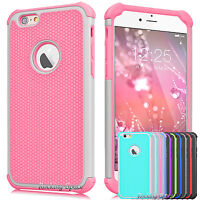Hybrid Shockproof Rugged Rubber Armor Impact Case Cover for iPhone 6S / 6S Plus