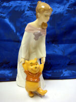 FUN WITH WINNIE THE POOH GIRL PORCELAIN FIGURINE NAO DISNEY BY LLADRO  #1593