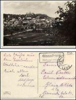 MARBURG Lahn Gesamtansicht um 1940 mit Landpost Stempel Gisselberg siehe Scan