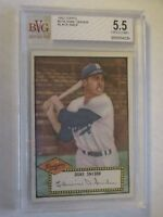DUKE SNIDER 1952 TOPPS #37 BLACK BACK BVG 5.5 EXCELLENT+ NICE CARD!!