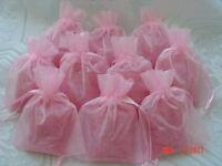 PINK 25 Bath Salt  in Organza Bags Bridal Wedding Baby Shower Favors**