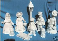 "12 PC. ""SUGARPLUM"" SMALL CAROLER SET    CERAMIC BISQUE"
