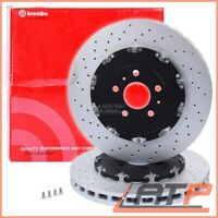 2X BREMBO BRAKE DISC TWO-PIECE FRONT Ø365 VENTED AUDI A4 B7 8E B6 8H RS4 05-09