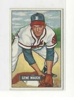 1951 Bowman #312 Gene Mauch RC Rookie Braves - EX