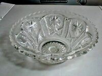 EAPG Indiana American Pattern Glass STAR & FILE Dessert/Sauce Bowl