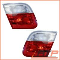 2X REAR LIGHT RED WHITE INNER LEFT+RIGHT BMW 3 SERIES E46 CONVERTIBLE+COUPE