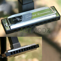 High Quality Silver Special Swan Harmonica 10 Holes Key Of C Silver with Case