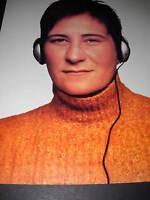 k.d. LANG stunning PHOTO PROMO AD wearing headphones