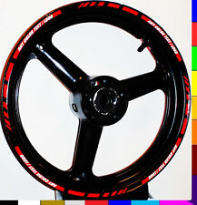 MOTORCYCLE or CAR RIM STRIPES WHEEL DECALS TAPE STICKERS TRIM 17 INCH ALL BIKES
