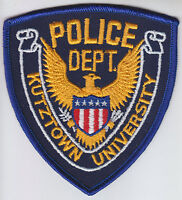 Kurtztown University Police Patch PA Pennsylvania CHEESECLOTH BACK vintage/old