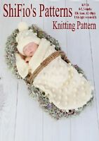 BABY COCOON PAPOOSE KNITTING PATTERN REBORN PATTERN 128