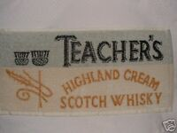 Teachers Highland Cream Scotch  Whisky- Bar Towel - New