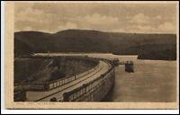 Urfttalsperre Eifel alte Postkarte AK ~1920/30 Sperrmauer Stausee ungelaufen