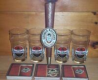 KILLIANS IRISH RED TAP HANDLE KEG MARKER 4 BEER PINT GLASSES 30 BAR COASTERS NEW