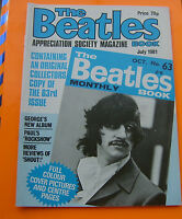 THE BEATLES BOOK MONTHLY APPRECIATION Magazine No 63 July 1981