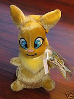 Neopets Gold USUL Squirrel-like Plush Plushie Limited Edition Series 6 NEW Code