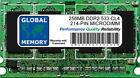 256MB DDR2 533MHz PC2-4200 214-PIN MICRODIMM MEMORIA RAM PER PORTATILI/