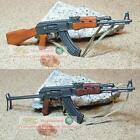 1:6 Scale Action Figure DRAGON RUSSIA AK-47 + AKS-47 GUN ASSAULT RIFLE AK47 Set2