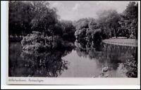 WILHELMSHAVEN um 1943 Teich Park-Anlagen Nordseeverlag alte Ansichtskarte
