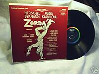 1969 ZORBA Original Broadway Cast Album capitol label SO 118 LP
